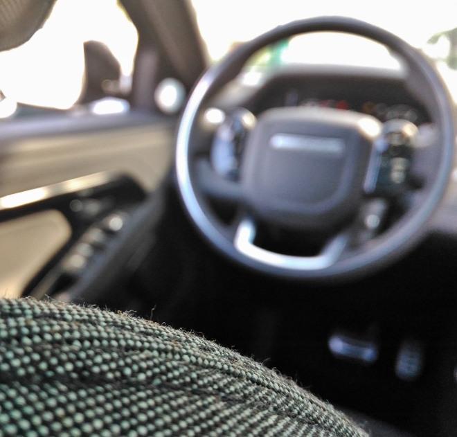 Range Rover Evoque neuer: Stoffpolsterung und Sitzbezug
