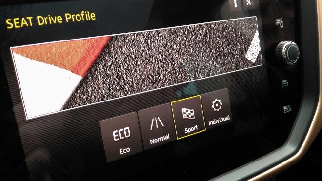 Seat Ibiza 2018, Drive Profile Schalter