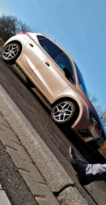 Seat Ibiza 1.0 Seite, Heck, gold