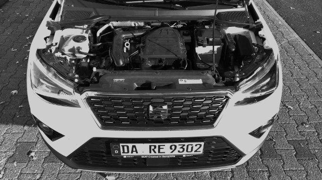 Seat Arona 1,0 Liter Dreizylinder Motor mit 115 PS