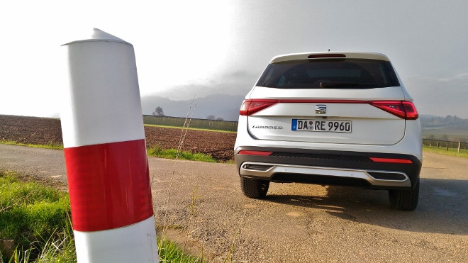 Seat Tarraco SUV weiss Heck