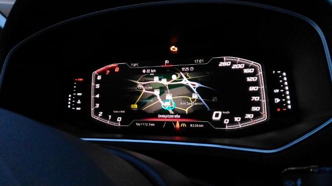 Seat Tarraco SUV Navigations Karte Digitalcockpit