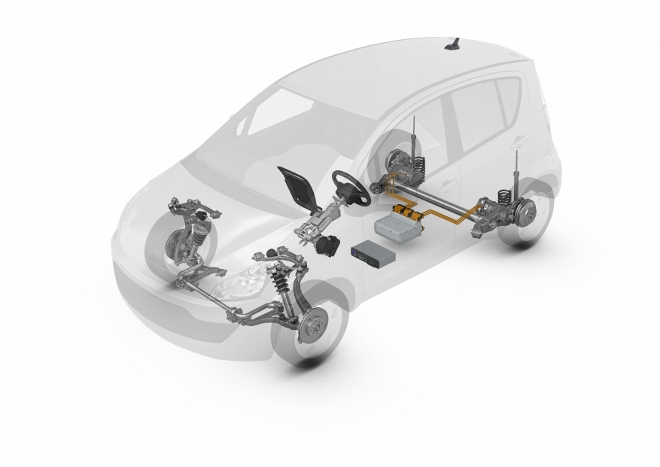 ZF Smart Urban Vehicle der Hinterachsantrieb