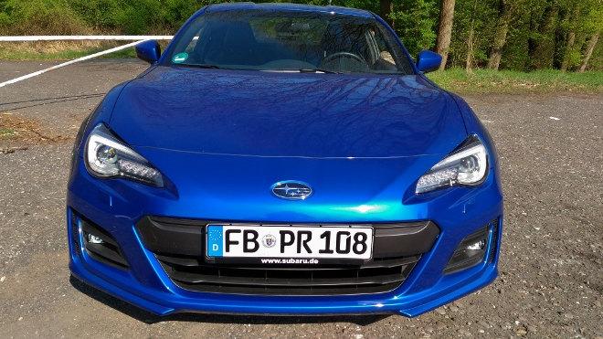 Subaru BRZ Facelift Blau Front