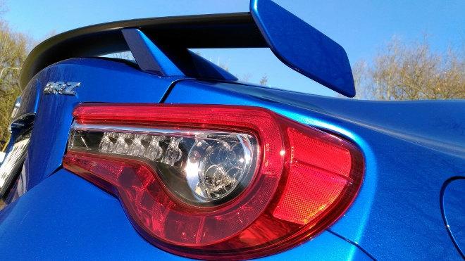 Subaru BRZ Facelift Blau Heckspoiler