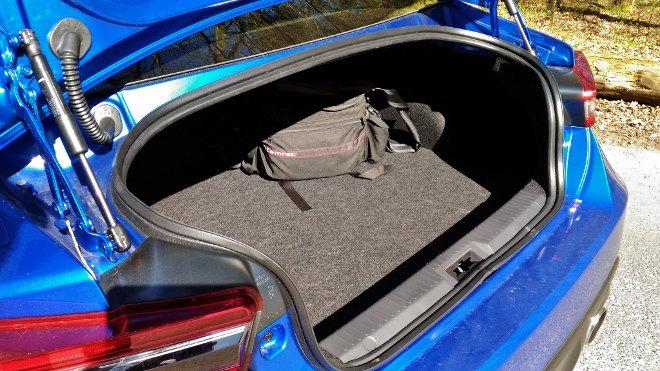 Subaru BRZ Facelift Blau Kofferraum
