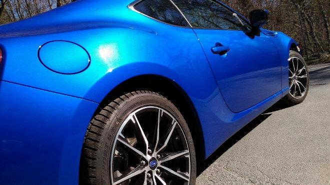 Subaru BRZ Facelift Blau Felgen