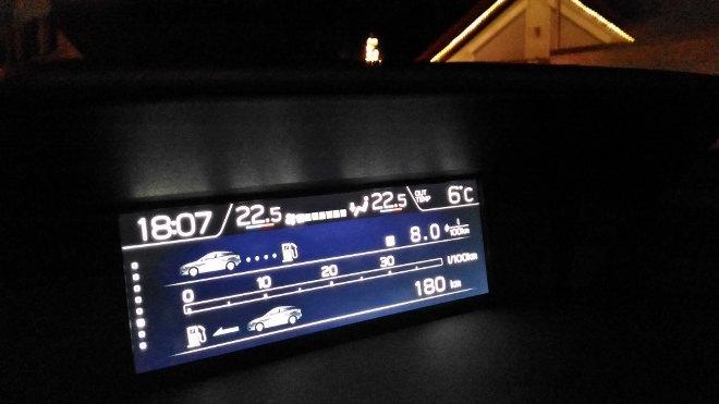 Subaru Impreza 2019 oberere Bildschirm