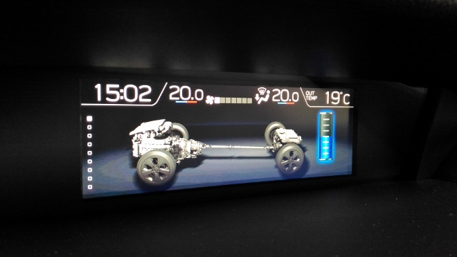 Hybrid anzeige Subaru XV Hybrid eBoxer