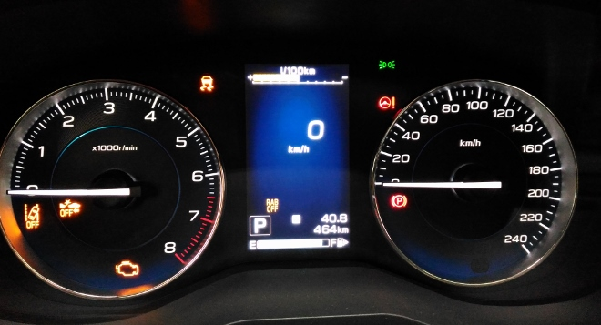 Instrumente Subaru XV Hybrid eBoxer