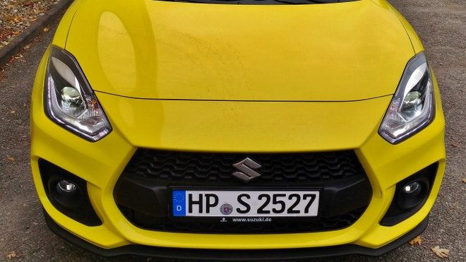 Suzuki Swift Sport Frontal Ansicht in gelb