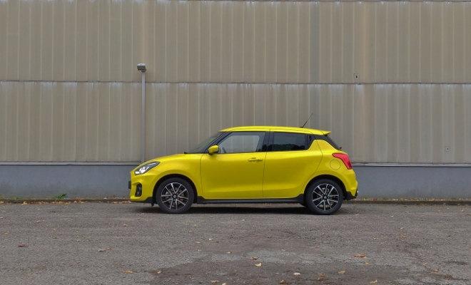 Suzuki Swift Sport 2019, Seitenansicht, in Gelb