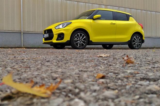 Suzuki Swift Sport 2019 Gelb Seitenansicht