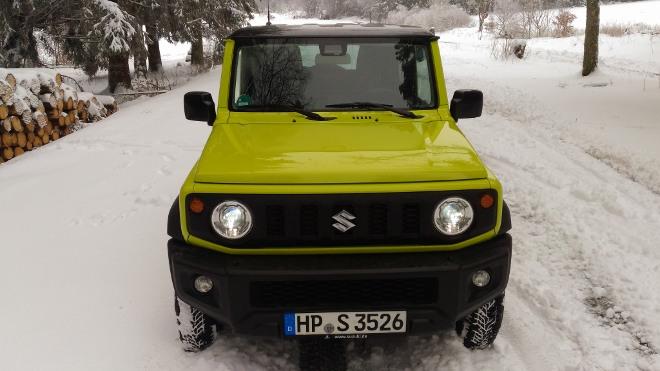 Suzuki Jimny Jeep gelb Front