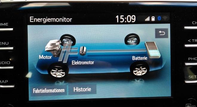 Toyota Camry Hybrid Anzeige