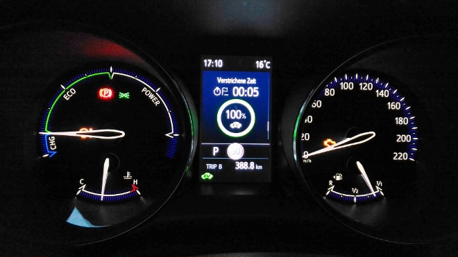 Instrumente und Tacho Toyota C-HR Facelift