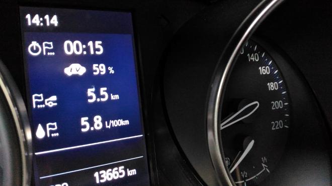 Verbrauch Bordcomputer Toyota C-HR 184 PS Hybrid