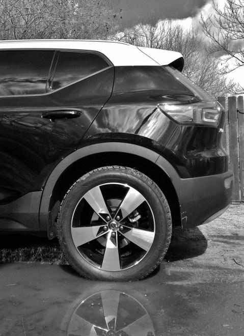 Volvo XC40 schwarz,weiss, Heck