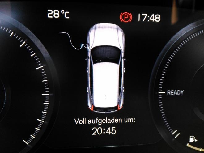 Volvo XC40 Recharge Ladeanzeige