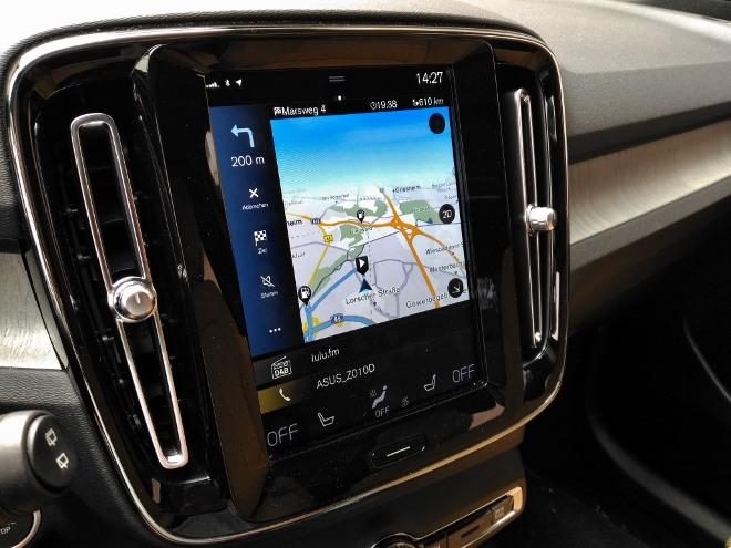 Volvo XC40 Recharge Navigation Map