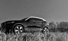 Volvo XC40 schwarz mit weissen Dach