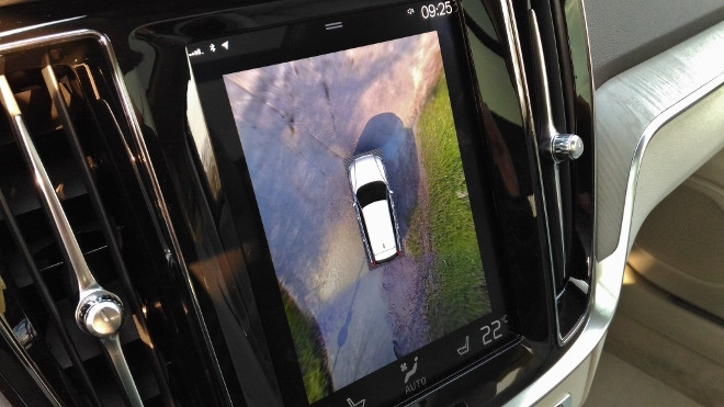 Volvo V60 360 Grad Rundumsichtsystem, Hochformst-Bildschirm