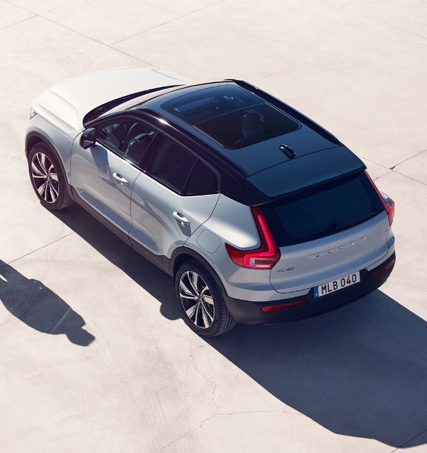 Volvo XC40 Recharge Pure Electric P8 AWD: Volvos Elektro SUV in weiss