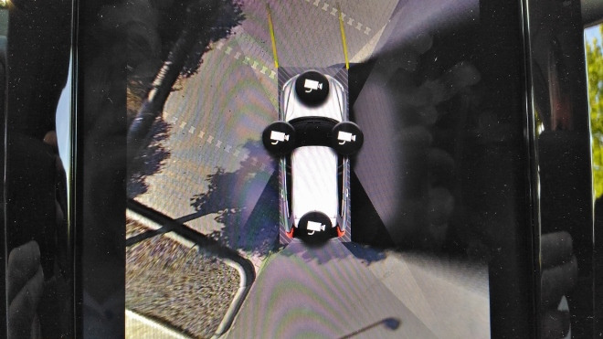 Volvo XC60 B5 Perspektiven der vier Kameras
