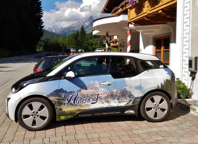 Walchhofer´s Alpenhof in Filzmoos, Elektroauto leihen, BMW i3